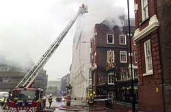 College of Arms fire