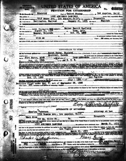 Naturalization Document from Ancestry.com