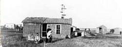 The George Walker sod house, one of many in Rawlins County (From: Rawlins County Genealogical Society)