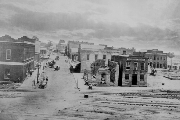 Peachtree Street, Atlanta, Ga., 1864. Photographed by George N. Barnard; Courtesy of the National Archives