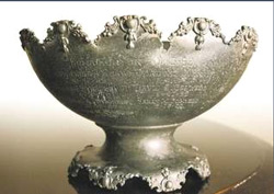 Inscribed christening bowl