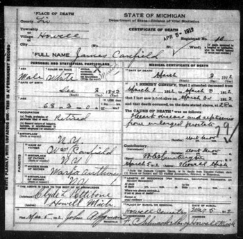 Digitized & FREE Michigan Death Certificates Online Better Than ...