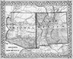 1867 Arizona – New Mexico Map, courtesy of Wikipedia