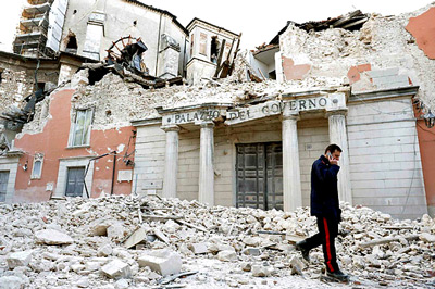 L'Aquila State Archive Collapse - Reuters photos via the New York Times