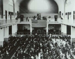 The Great Hall at Ellis Island - Courtesy of the National Park Service