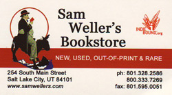 Sam Weller's business card