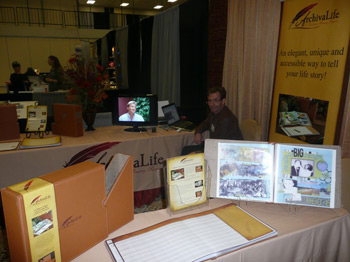 ArchivaLife's Bill Burch in his booth at the 2009 California Family History Expo.
