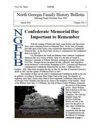 North Georgia Family History Bulletin