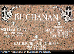Memory Medallions on a Buchanan Headston
