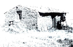 Sod house in Hanna, Alberta