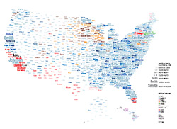 American Surname Map