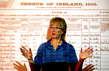 'The potential for roots tourism locked away in the 1926 census is incalculable.' Above, Minister for Culture Mary Hanafin marking the free online availability of the 1901 census.Photograph: Alan Betson
