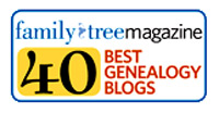 Top 40 Genealogy Blogs - 2010 - Presented by Family Tree Magazine
