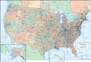 US Maps Atlases Gazetteers GenealogyBlog - Map of rivers in us with names