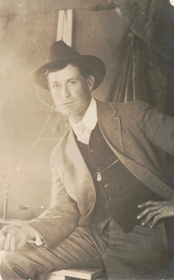 Marvin Neal Cornett - from Real Photo Postcard - taken between 1918 & 1930 based on the stamp box.