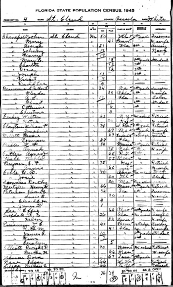 Henry-Meitzler 1945 Florida Census