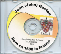 Jean (John) Gaston CD-ROM