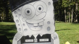 Oct. 10, 2013: This photo provided by the family of Kimberly Walker, shows Walker's gravestone in the likeness of popular cartoon character SpongeBob SquarePants. (AP)