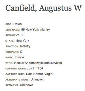 Augustus-W-Canfield-Andersonville-Prison