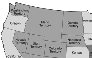 The first Idaho Territory, March 1863.