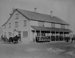 St. Joseph's Indian Industrial School, High River, Alberta, ca. 1896.
