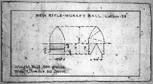 Minie ball design plans from Harpers Ferry.