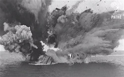 The HMS Barham Explodes and Sinks, 1941 - Photo: British Pathé