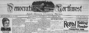 Democratic Northwest and Henry County News Headlines