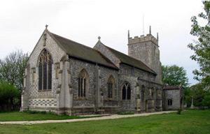 Burnham Thorpe Church, Norfolk. Horatio Nelson's baptismal place. Photograph: John Salmon