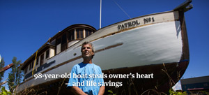 Marc Landry, who purchased Harbor Patrol No. 1 in 2008, says he spent $78,000 in materials to restore it. He failed to move the boat after an eviction notice, and it is now owned by the Port of Port Townsend and could be headed for demolition. (Sy Bean/The Seattle Times)