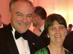 Tim Kaine with wife Anne Holton