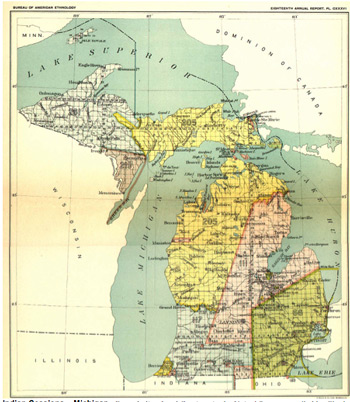 1807 Treaty Of Detroit This Was The First Large Indian Land Cession In Michigan Territory Involving The Ojibwa Ottawa Chippewa Wyandot And Potawatomi