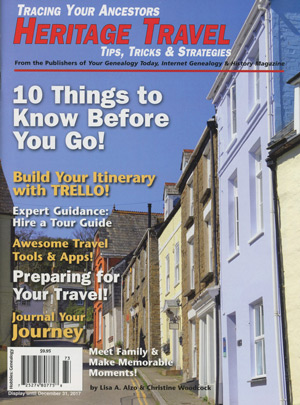 Heritage travel tips tricks strategies 20 off genealogyblog a short time ago lisa a alzo and christine woodcock wrote a new booklet for moorshead magazines entitled tracing your ancestors heritage travel tips fandeluxe Choice Image