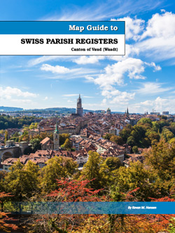 Map Guide to Swiss Parish Registers Vol 7 Canton of Vaud Waadt