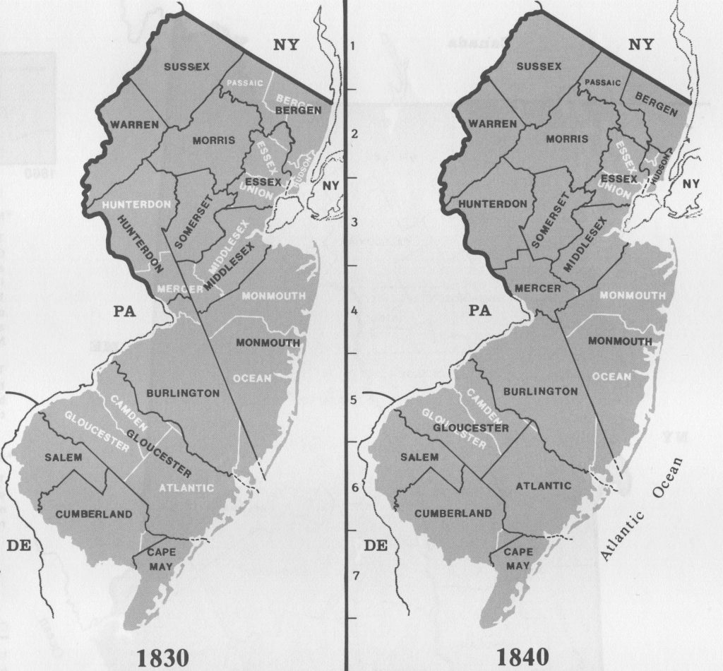 March 2018 genealogyblog 1830 1840 federal census years the 1830 map above shows the 14 counties of new jersey at the time of the 1830 federal census fandeluxe Gallery