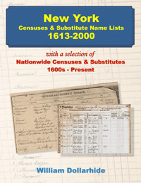 The following article is by my friend Bill Dollarhide, taken from his book,  New York Censuses & Substitute Name Lists, 1613-2000 .